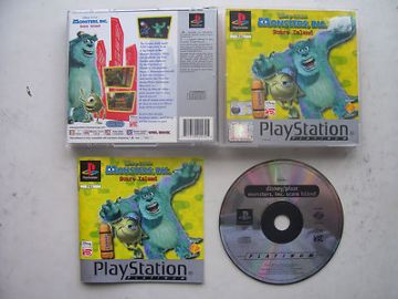Monster Inc Scare Island  PS1 Game